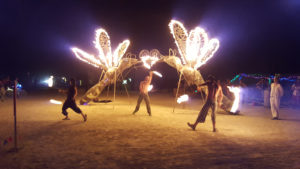 Pollen Nation fire dancers