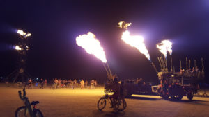 flame throwing art cars